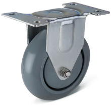 12 Series PU Fixed Caster Wheels
