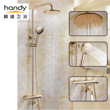 Shower Thermostatic Faucet Brass Gold Shower