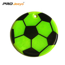 Reflective PVC Foam Leather Football Green KeyChain