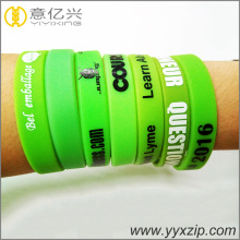cheap gift items new silicone bracelet wrist bands
