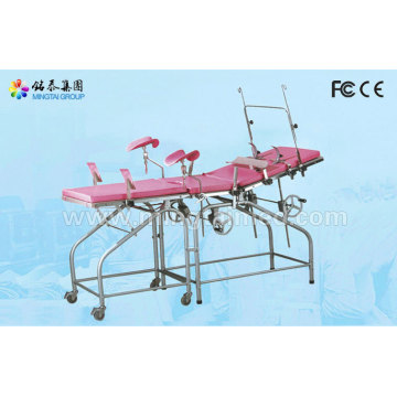 Top Quality for Gynecology Chair Stainless steel examination table (with auxiliary board) supply to Qatar Importers