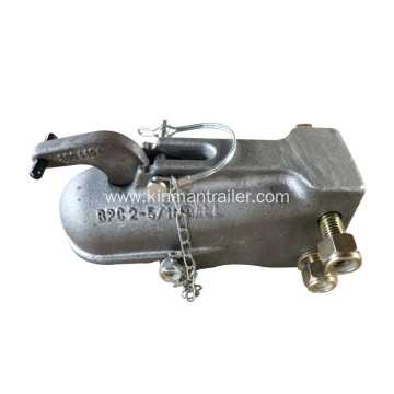 adjustable channel mount trailer coupler