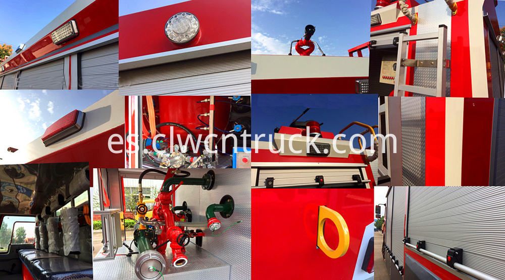 details of fire truck body