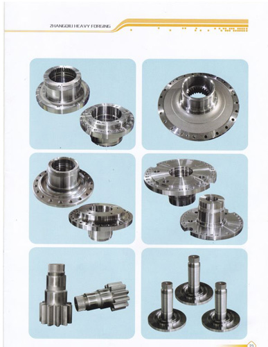 Chain wheel shaft forging