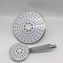 White Round ABS Plastic Shower Head Set