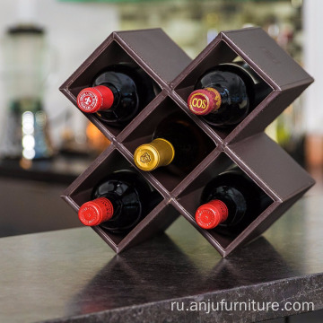 Factory Antique Wooden black Wine Bottle Rack