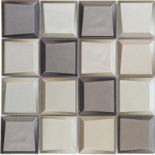 Square size 3D glass mosaic