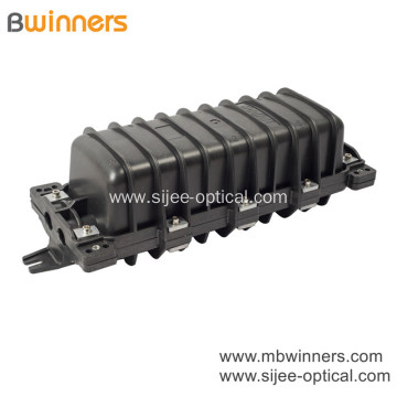144 Core Optical Fiber Splice Box Horizontal Type Waterproof Fosc 2 Inlet 2 Out