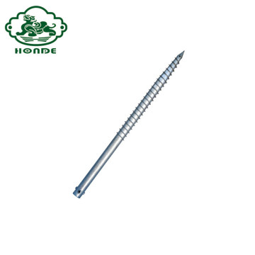 Galvanized Spiral Ground Screw Pole Anchors For Fence