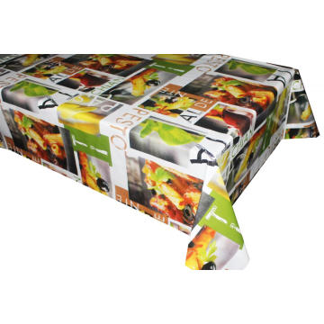 Pvc Printed fitted table covers Foot Vinyl Tablecloths