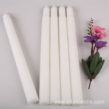 Church Religious White Flute Candle with Ridge