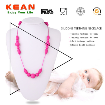 Soft silicone baby teething jewellery necklace