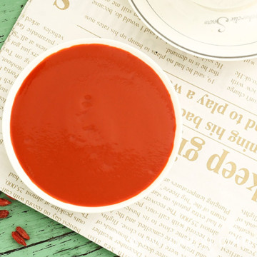 Low-fat goji juice concentrate for weight loss