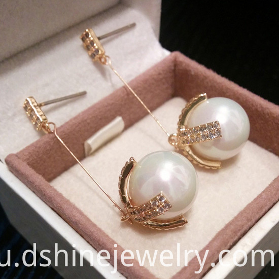 Diamond And Pearl Earrings