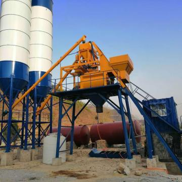 Mini HZS35 automatic precast concrete batching plant