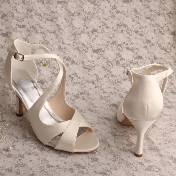 Bridal Wide Fit Ivory Sandals for Women Wedding