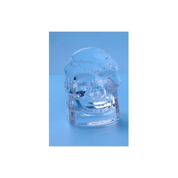Glass Skull Tealight Candle Holder for Halloween