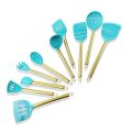 9PCS Rose Gold Silicone Cooking Utensils Set