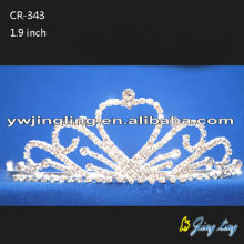 Heart Shape Wholesale Wedding Pageant Crowns