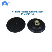 Durable Abrasive Flexible Polishing Rubber Backer Pad