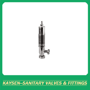 Sanitary safety relief valves with male threaded end