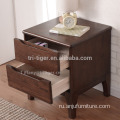 Modern New White oak Wood Night Stand with 2 Drawers
