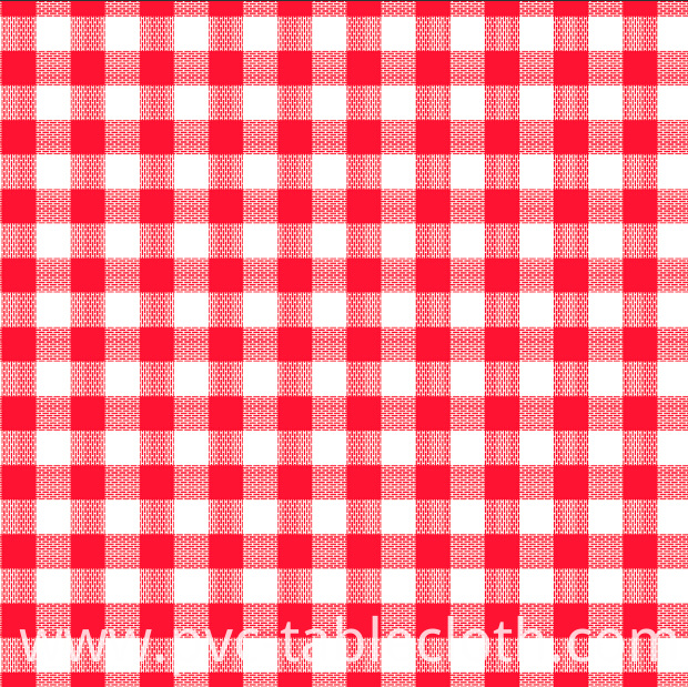 Printed check Tablecloth
