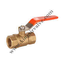 Red handle brass ball valve