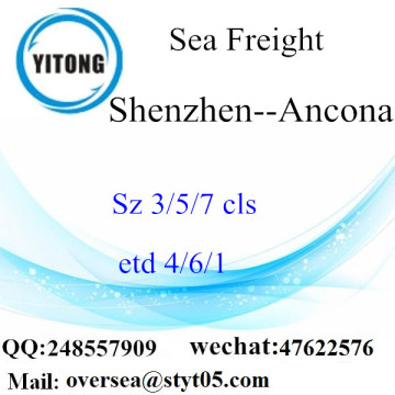 Shenzhen Port LCL Consolidation To Ancona