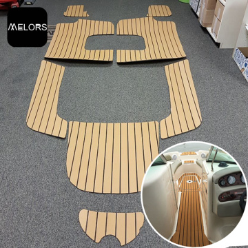 Light Teak & Black Marine EVA Foam Boat Traction