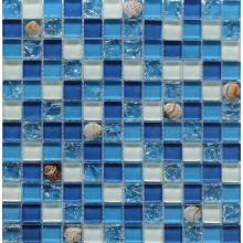 Shell Intersperse Crystal Glass Mosaic