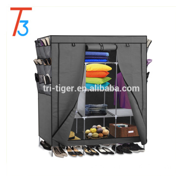 China factory easy assembly wardrobe bedroom folding fabric wardrobe