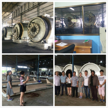 non-pollution waste tire pyrolysis machines