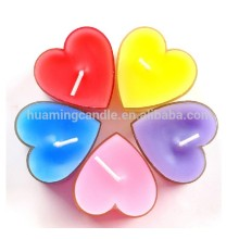 Professional for Colored Tealight Candle With Aluminum Holder romantic heart shape scented tealight candle for Christmas export to Belize Suppliers