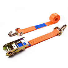"2"" 5000kgs 50mm Straight Aluminum Handle Ratchet Buckle Car Tire Belt Straps With 2 Inch Swivel Hooks"
