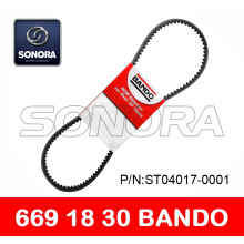 Professional for CVT Drive Belt 788 17 28 BANDO V BELT 669 x 18 x 30 SCOOTER MOTORCYCLE V BELT ORIGINAL QUALITY export to Spain Supplier