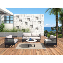 Aluminum  PE Rattan&Wicker Outdoor Sofa Set