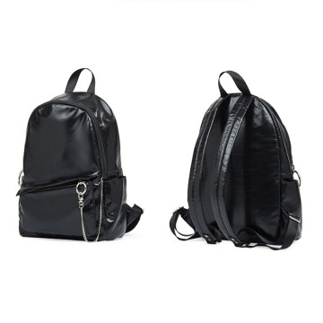 Shiny foldable large-capacity backpack