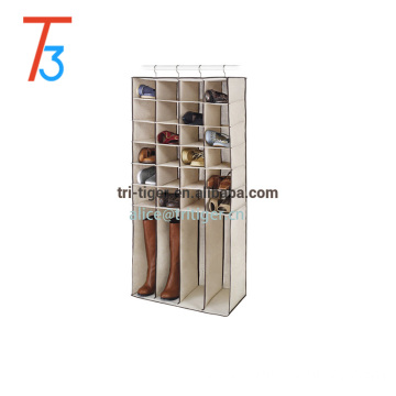 Fashion Canvas 28-Section Hanging Shoe or Boot Shelves