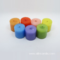 Paraffin wax candles yellow taper candle