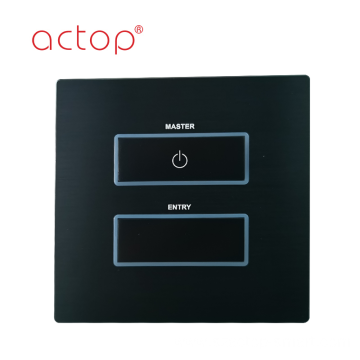 GRMS Hotel Management Software Custom Door Plate Wall Switch TV PC Data Touch Glass Metal Plastic Switch Panel Plug Sockets