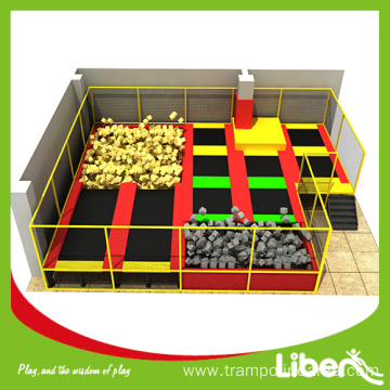 customized indoor trampoline park for kids