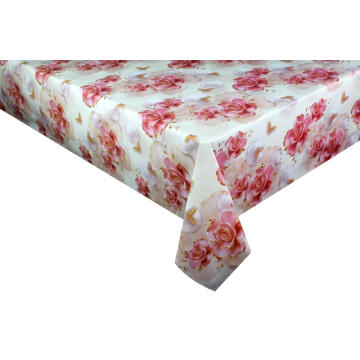 Pvc Printed fitted table covers Table Linens Overlays