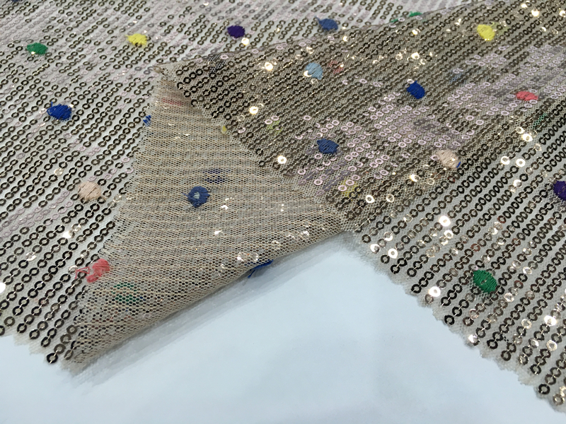 Shiny Sequins Embroidery Fabric