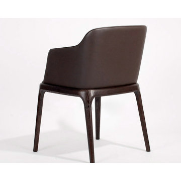 Grace wooden dining chair with arm