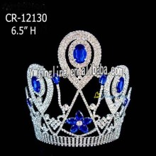 Wholesale Sapphire Beauty Queen Crowns CR-12130