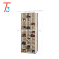 New door wall mounted hanging fabric shoe rack with 30 pockets