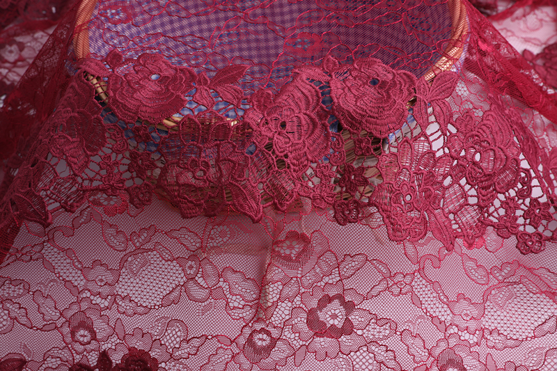 Nylon Lace Mesh Embroidery Fabric