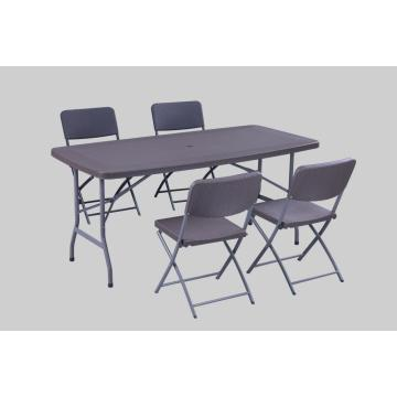 New Rattan Design Folding Plastic Table USE umbrella
