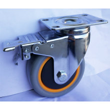 Medium Duty swivel brake PVC Caster Wheels(3''-5'')